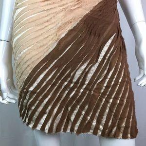 bebe Dresses - Bebe Ombré Silk Chiffon V-Neck Halter Sheath Dress